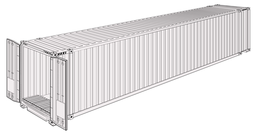 45' High Cube Pallet wide